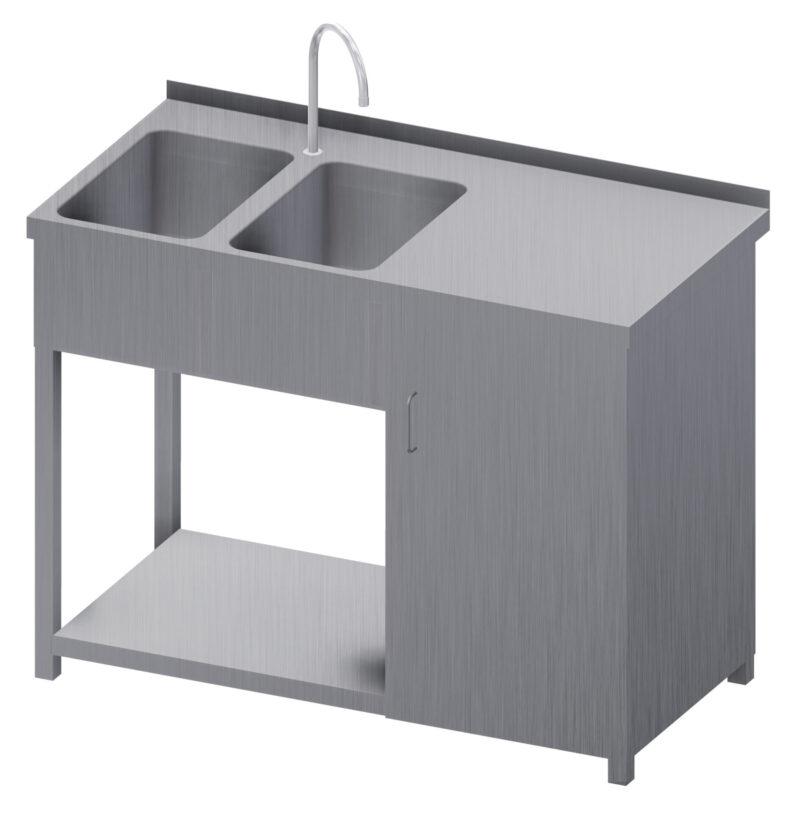 stół nierdzewny ze zlewem
