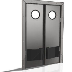 Drzwi gospodarcze wahadłowe nierdzewne